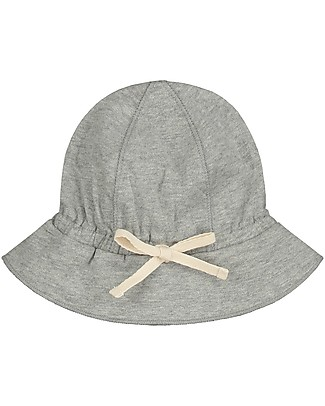 Gray Label Baby Sun Hat, Grey Melange - Organic cotton Sunhats