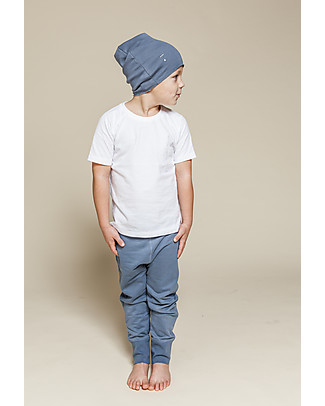 Gray Label Baggy Pant Seamless, Denim - 100% Softest Organic Cotton Fleece - 2/4 years Trousers