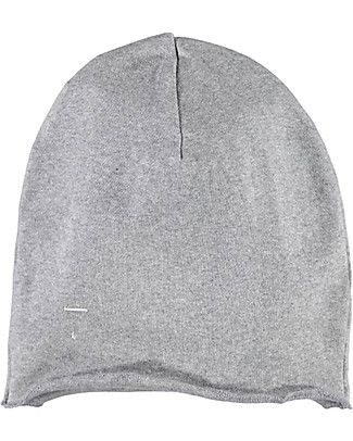 Gray Label Beanie, Grey Melange - 100% organic cotton rib Hats