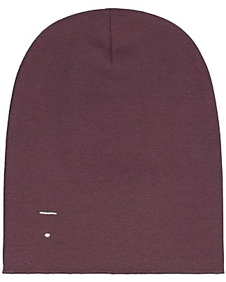 Gray Label Beanie, Plum - 100% organic cotton rib Hats