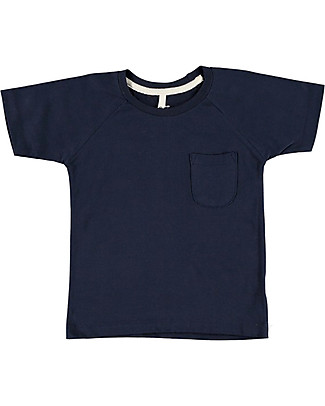 Gray Label Classic Crewneck Tee, Dark Blue - 100% organic cotton jersey T-Shirts And Vests