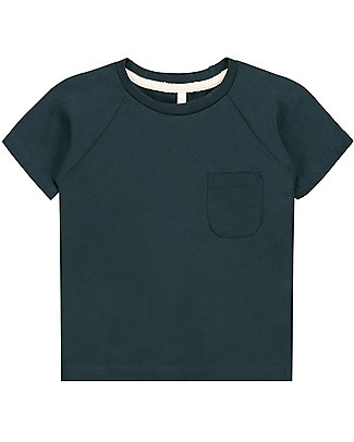 Gray Label Classic Short Sleeves Crewneck Tee, Blu Grey (2-3 and 3-4 years) - 100% organic cotton Long Sleeves Tops