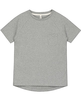 Gray Label Classic Short Sleeves Crewneck Tee, Grey Melange - 100% organic cotton T-Shirts And Vests
