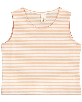 Gray Label Cropped Tank Top, Pop/White Stripes - 100% organic cotton Long Sleeves Tops