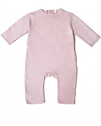 Gray Label Fleece Babysuit - Vintage Pink - 100% Sooftest Organic Cotton Rompers