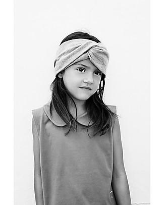 Gray Label Girl Twist Headband, Grey Melange (0-2 years) - 100% organic cotton Hair Accessories