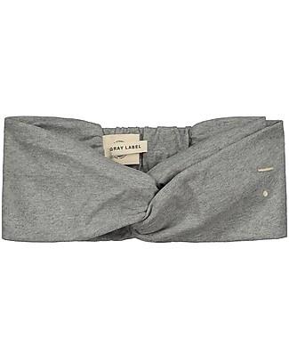 Gray Label Girl Twist Headband, Grey Melange (2-10 years) - 100% organic cotton Hair Accessories