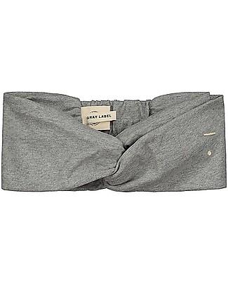 Gray Label Girl Twist Headband, Grey Melange (4-10 years) - 100% organic cotton Hair Accessories
