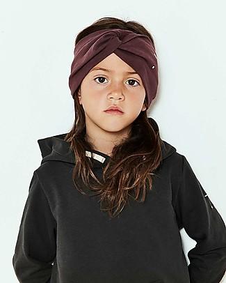 Gray Label Girl Twist Headband, Plum (4-10 years) - 100% organic cotton Hair Accessories
