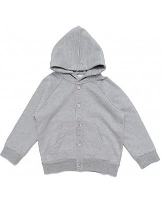 Gray Label Hooded Sweater, Grey Melange - 100% Softest Organic Cotton Fleece - 12/24 months Sweatshirts