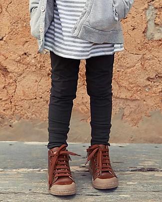 Gray Label Legging, Nearly Black - Softest Organic Cotton Fleece Leggings