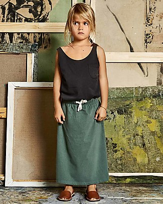 Gray Label Long Skirt, Sage - 100% organic cotton jersey null