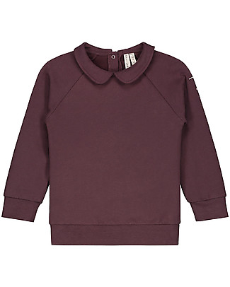 Gray Label Long Sleeves Collar Sweater, Plum (Sizes 2+ years) - 100% Softest Organic Cotton Sweatshirts