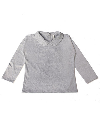 Gray Label Long Sleeves Collar Tee Grey - 100% Softest Organic Cotton Long Sleeves Tops