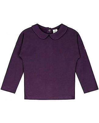 Gray Label Long Sleeves Collar Tee, Plum - 100% Softest Organic Cotton Long Sleeves Tops