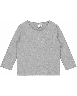 Gray Label Long Sleeves Pocket Tee, Grey Melange - 100% organic cotton Long Sleeves Tops
