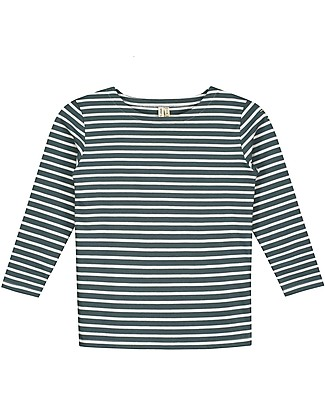 Gray Label Long Sleeves Striped Tee  Blue Grey/White Stripe (2+ years) - 100% organic cotton Long Sleeves Tops