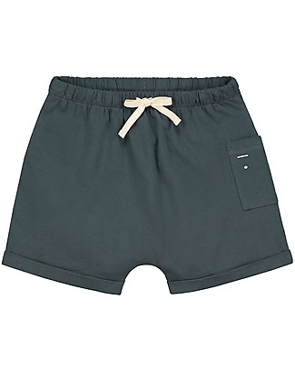 Gray Label One Pocket Shorts, Blue Grey (2+ years) - 100% Organic cotton Shorts