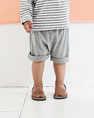 Gray Label One Pocket Shorts, Grey Melange (12-24 months) - 100% organic cotton Shorts