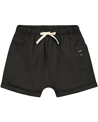 Gray Label One Pocket Shorts, Nearly Black (2+ years) - 100% Organic cotton Shorts