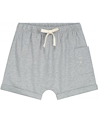 Gray Label One Pocket Shorts, Pop (12-24 months) - 100% organic cotton Shorts