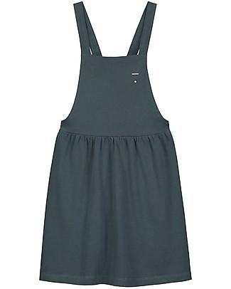 Gray Label Pinafore Dress, Blue Grey (18-24 months) - 100% soft organic Italian cotton fleece Dresses