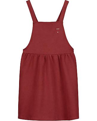 Gray Label Pinafore Dress, Burgundy - 100% soft organic Italian cotton fleece Dresses