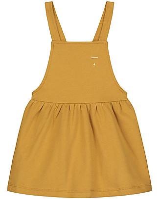 Gray Label Pinafore Dress, Mustard - 100% soft organic Italian cotton fleece Dresses