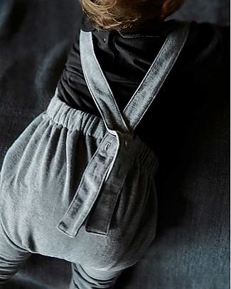 Gray Label Pleated Suit, Grey Melange (Baby Sizes) - 100% organic cotton Dungarees