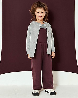 Gray Label Pleated Suit, Plum - 100% organic cotton Dungarees