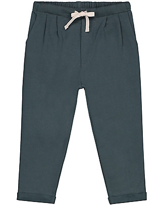 Gray Label Pleated Trousers, Blue Grey - 100% organic cotton Trousers