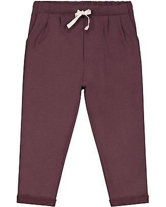 Gray Label Pleated Trousers, Plum - 100% organic cotton Trousers