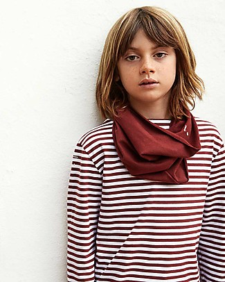 Gray Label Raw Edge Scarf, Ultra Soft Organic Cotton, Burgundy - One size Scarves And Shawls