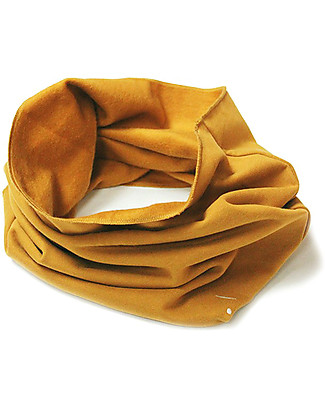Gray Label Raw Edge Scarf, Ultra Soft Organic Cotton, Mustard - One size Scarves And Shawls