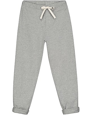 Gray Label Relaxed Jersey Pants, Grey Melange (12-24 months) - 100% organic cotton Trousers