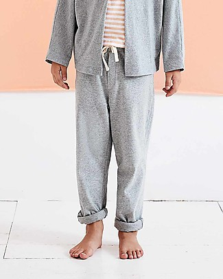Gray Label Relaxed Jersey Pants, Grey Melange (from 2 years old) - 100% organic cotton Trousers