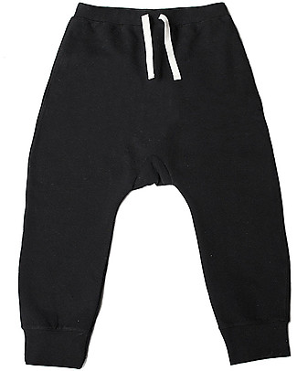 Gray Label Seamless Baggy Pant - Black - 100% Softest Organic Cotton Fleece Trousers