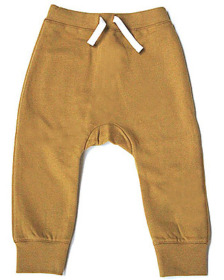 Gray Label Seamless Baggy Pant - Mustard - 100% Softest Organic Cotton Fleece Trousers