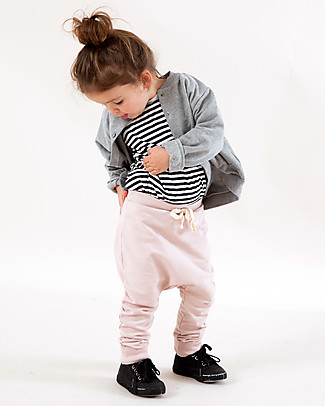 Gray Label Seamless Baggy Pant - Vintage Pink - 100% Softest Organic Cotton Fleece Trousers