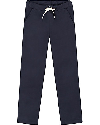 Gray Label Straight Pants, Night Blue - 100% softest organic cotton fleece Trousers