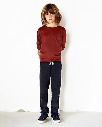 Gray Label Straight Pants, Night Blue - 100% softest organic cotton fleece Trousers