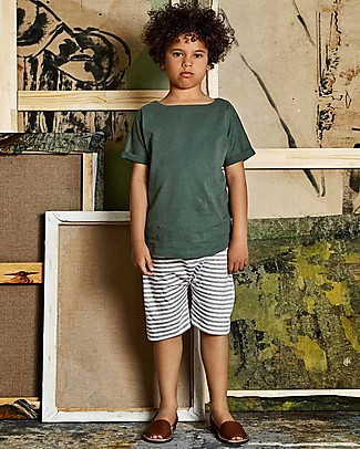 Gray Label Summer Wide Neck Tee, Sage - 100% organic cotton jersey null