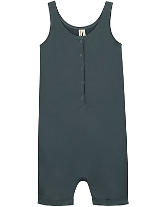 Gray Label Tank Suit, Blue Grey (12-18 and 18-24 months) - 100% Organic cotton - Ultra-comfortable! Dungarees