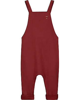Gray Label Unisex Dungarees, Burgundy - 100% Organic Cotton Dungarees