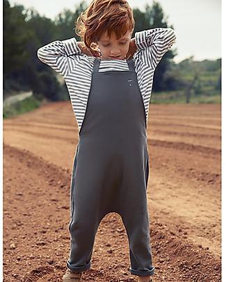 Gray Label Unisex Dungarees, Dark Grey - 100% Organic Cotton Dungarees