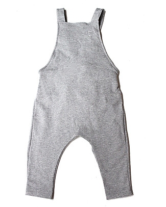 Gray Label Unisex Dungarees, Grey Melange - 100% Organic Cotton Dungarees