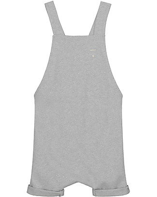 Gray Label Unisex Salopette Shortleg, Grey Melange - 100% Organic Cotton Dungarees