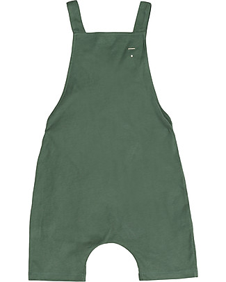 Gray Label Unisex Shortleg Dungarees, Sage - 100% Organic Cotton Dungarees