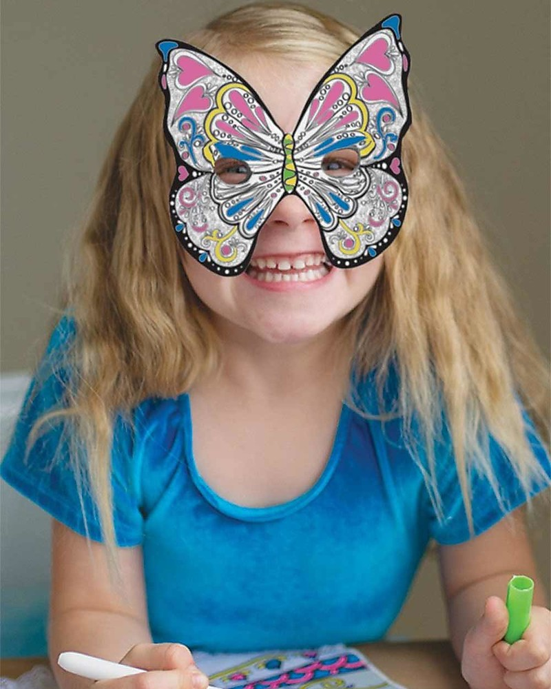 Great Pretenders Colour A Mask Butterfly Includes 3 Marks Girl