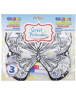 Great Pretenders Colour a Mask Butterfly - Includes 3 Marks Colouring Activities